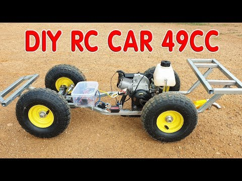 How to make a RC CAR with 49cc 2-Stroke Engine