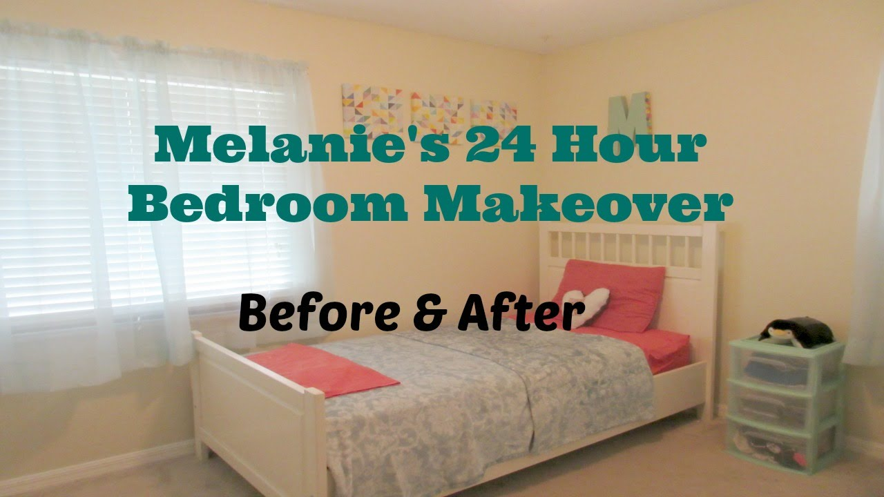 Bedroom Makeovers Before And After 24 hour bedroom makeover! before and after - youtube