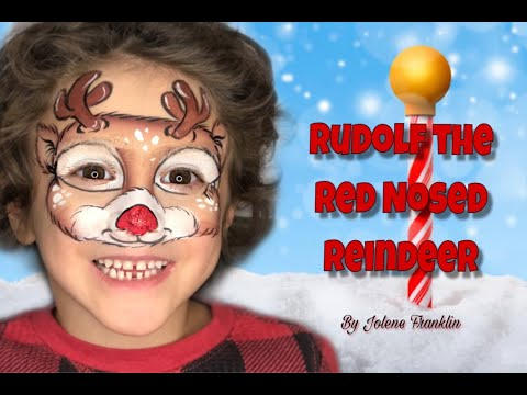 Reindeer Face Paint | Onestroke Tutorial By Jolene Franklin thumbnail