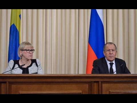 Пресс-конференция С.Лаврова и главы МИД Швеции | Sergey Lavrov - Sweden FM Press Conference