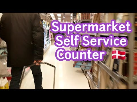 How To Use The Self Service Counter In Denmark Supermarket?