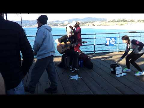 Godfather Theme with hip hop beat at Santa Monica pier