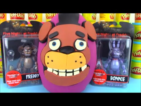 Five Nights at Freddy Huge Surprise Egg with FNaF Toys