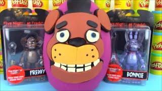 Five Nights at Freddy Huge Surprise Egg with FNaF Toys