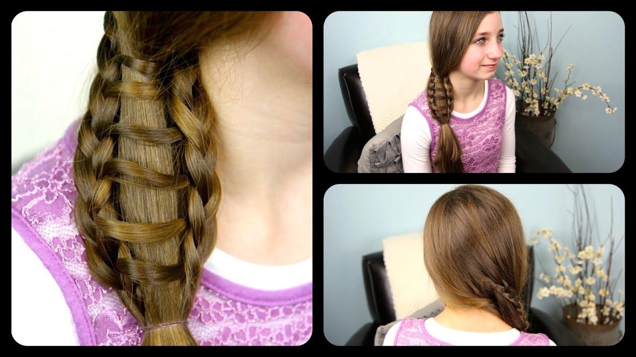ladder braid side ponytail cute