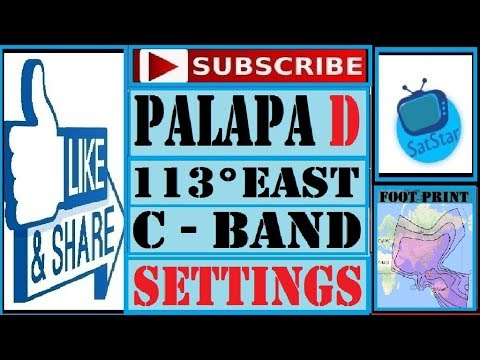 Palapa D at 113°E Dish Setting || Palapa D @113°E C Band Dish Setting || by Satstar