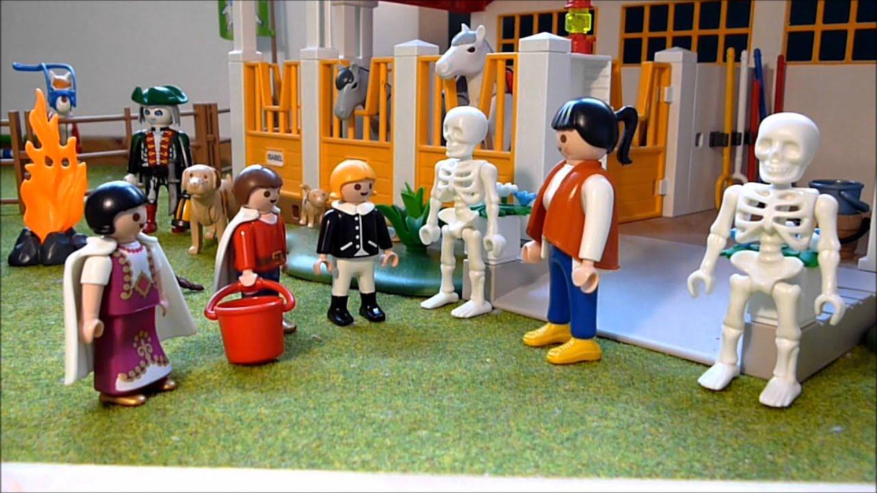 Playmobil skelette auf dem reiterhof youtube - Pferde playmobil ...