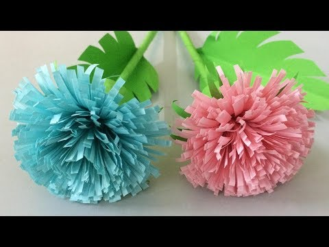 How to Make Pretty Paper Flower - Making Paper Flowers Step by Step - DIY Paper Crafts