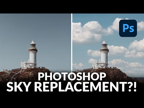 Testing the NEW Sky Replacement Tool in Photoshop!