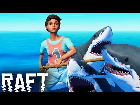 O CAÇADOR DE TUBARÃO!!! (DESAFIO) - Raft