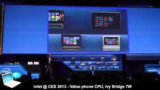 Intel @ CES 2013 - Intel Haswell, Ivy Bridge 7W, Clover Trail+, Lexington, Bay Trail, North Cape
