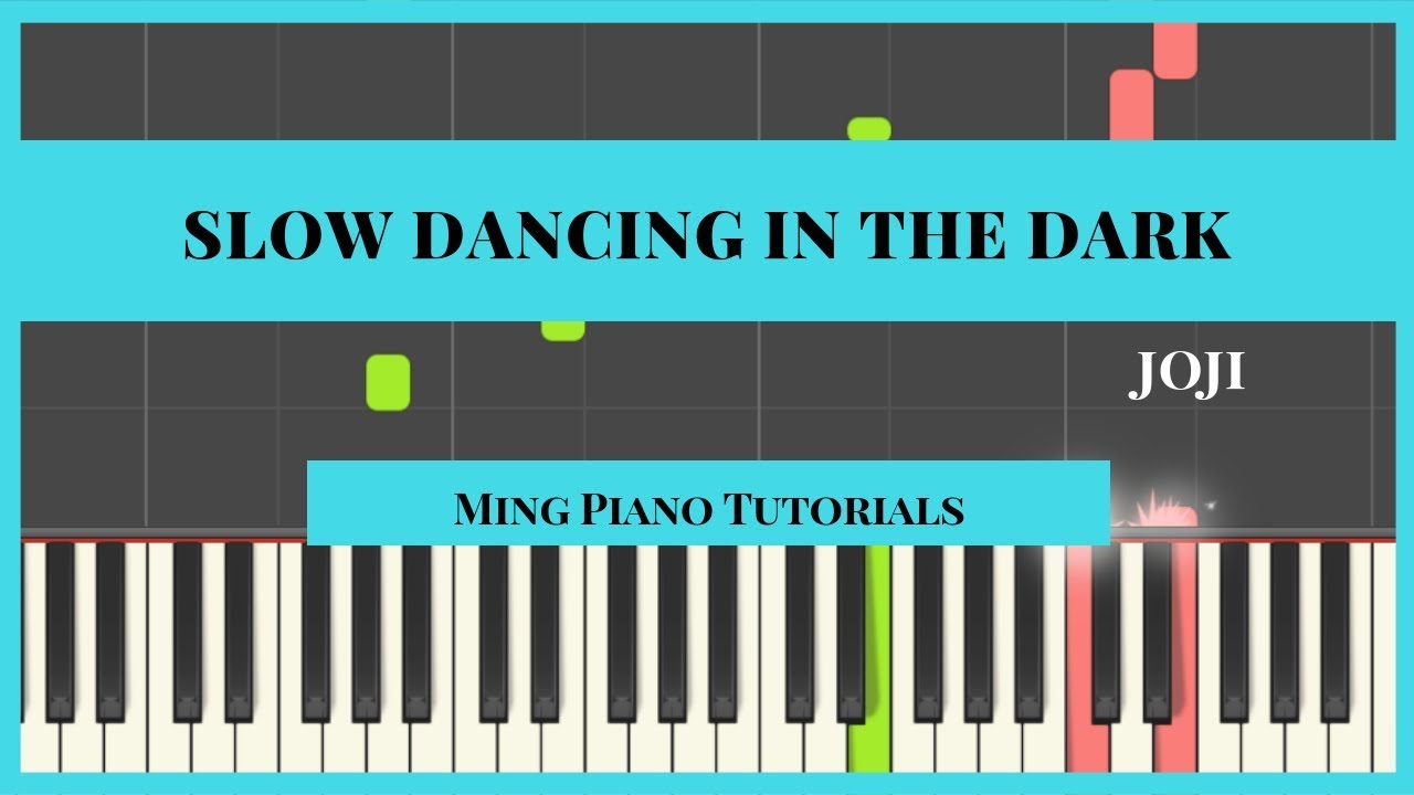 Slow Dancing In The Dark Joji Piano Cover Tutorial Midi Sheets
