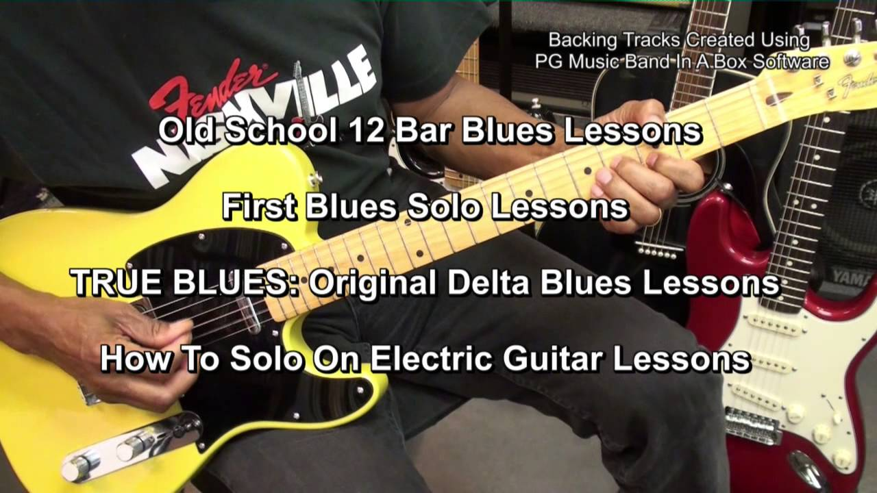 How To Play EASY Old School TRUE BLUES GUITAR YouTube Series EricBlackmonMusic