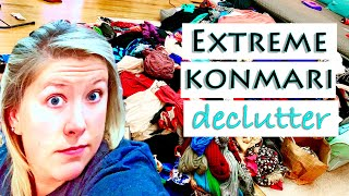 Extreme Konmari Method Decluttering | Closet & Clothing Declutter