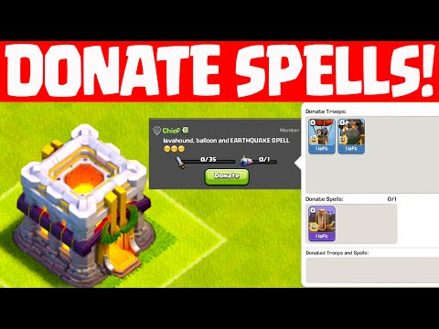 Can'T Donate Spells In Clash Of Clans