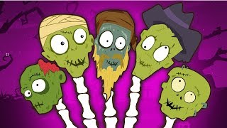 Finger Family Rhymes | Funny Creepy Zombie by Teehee Town