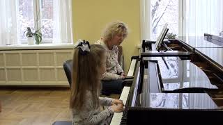 13.02.2019 First lesson of Mira Marchenko with Ulyana Rodina, classroom of the Central Music School