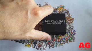 Unboxing boitier RCA to HDMi + Test [FR]