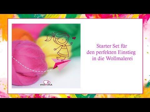 """Kinder Kreativset /""""Sei meine Wollentine/"""" # Bastelset Deko Bastelset Malset Wolle"""