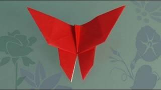 Origami Schemetterling. Origami Papierfaltkunst lerner