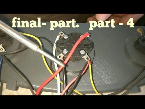 plastic air cooler 3 speed motor wiring with rotary switch (part- 4)( urdu/  hindi) by israr