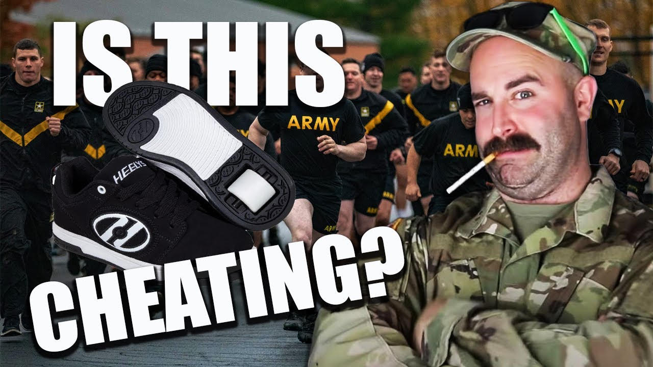 DIRTBAG U.S. Army Soldier Uses HEELYS To Cheat On ARMY FITNESS TEST?!
