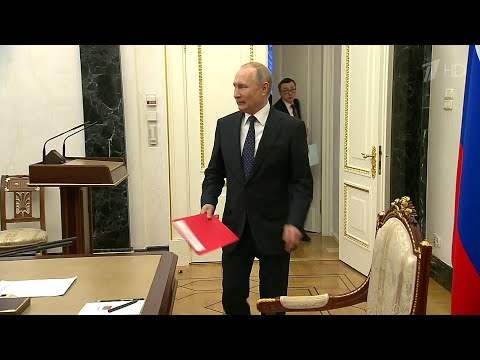 Коронавирус - одна из тем, которую В.Путин обсудил с постоянными участниками Совета Безопасности.