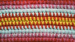 Узор 15 Вязание крючком из длинных петель Crochet pattern Урок вязания