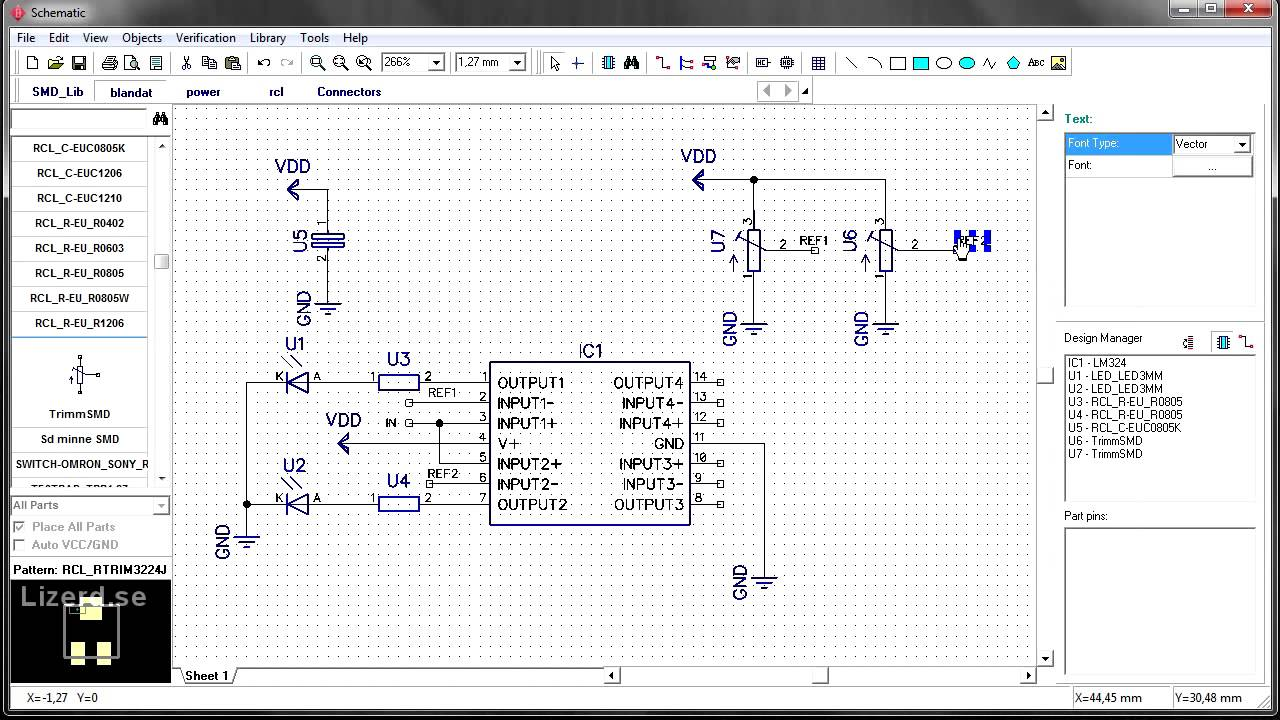 DipTrace Create Schematic [swe] on
