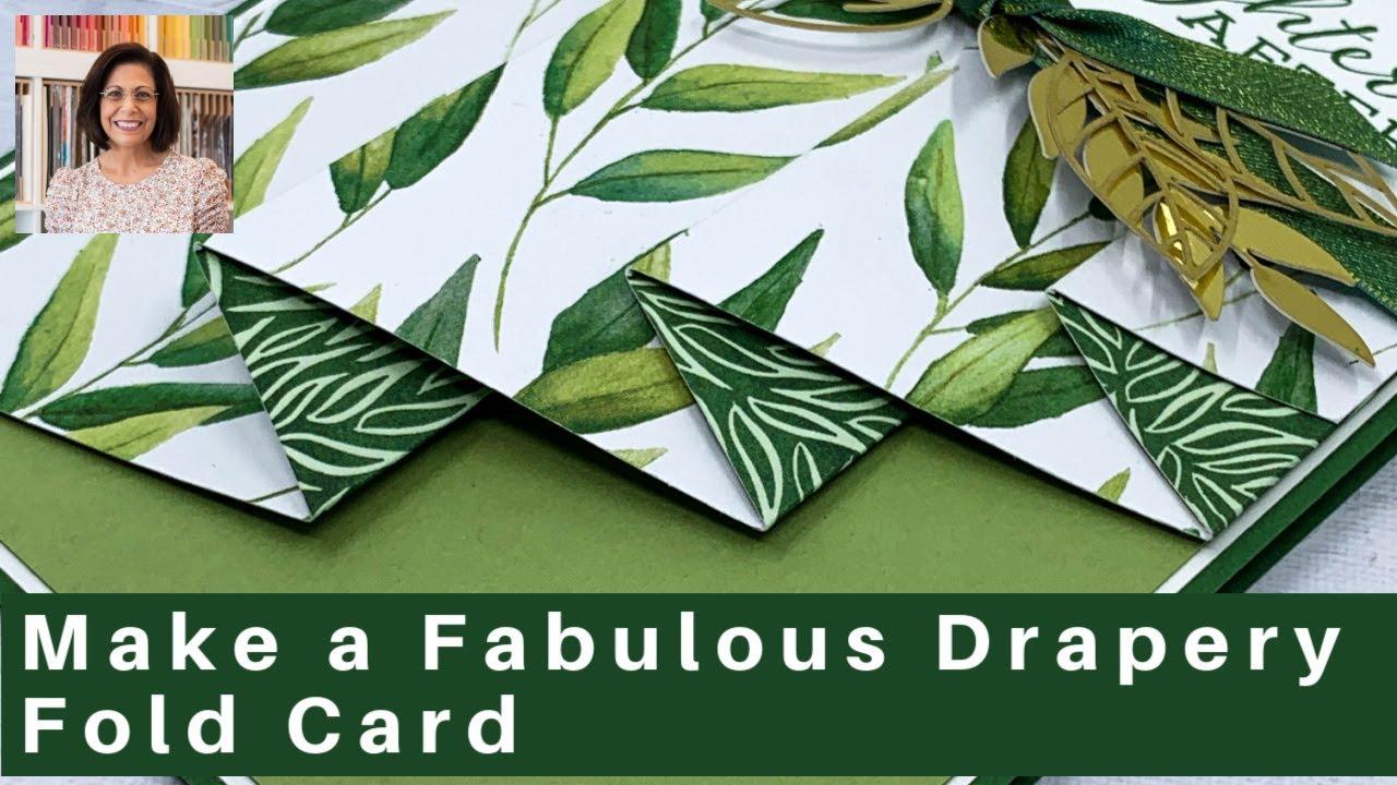 Как сделать потрясающую поздравительную открытку со складкой драпировки