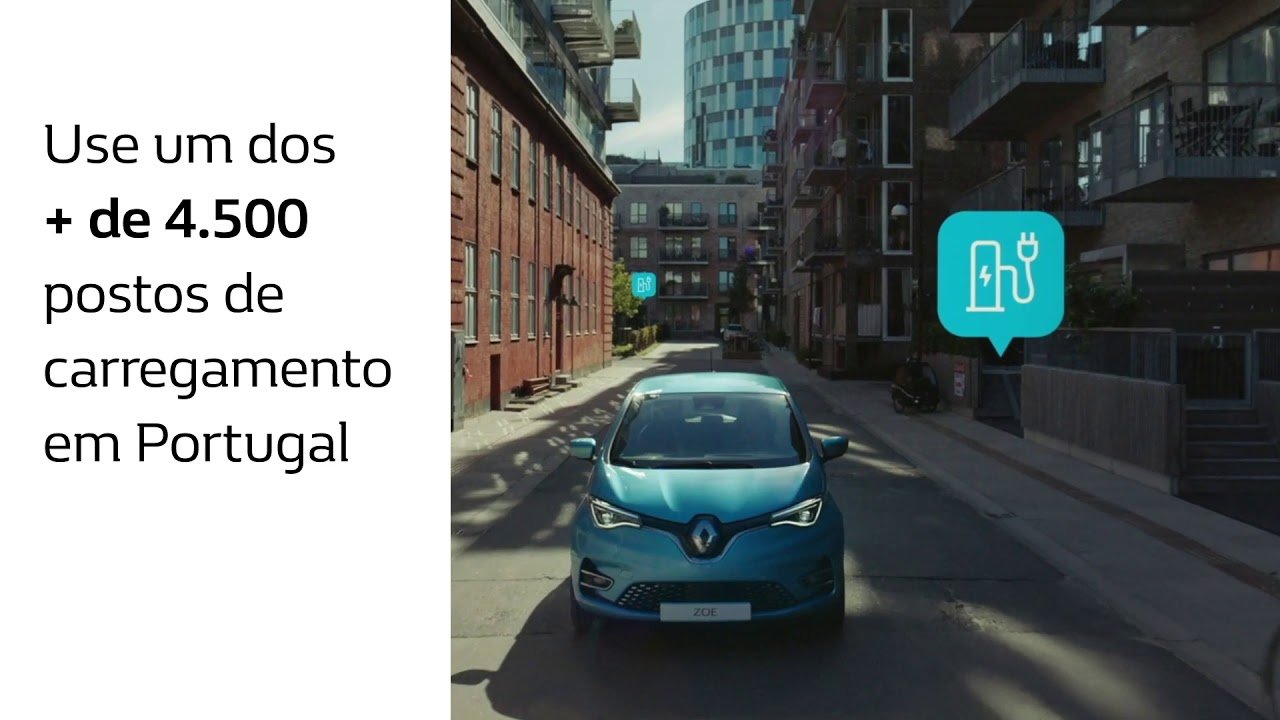 Renault ZOE 100% Elétrico – CARREGAMENTO FÁCIL