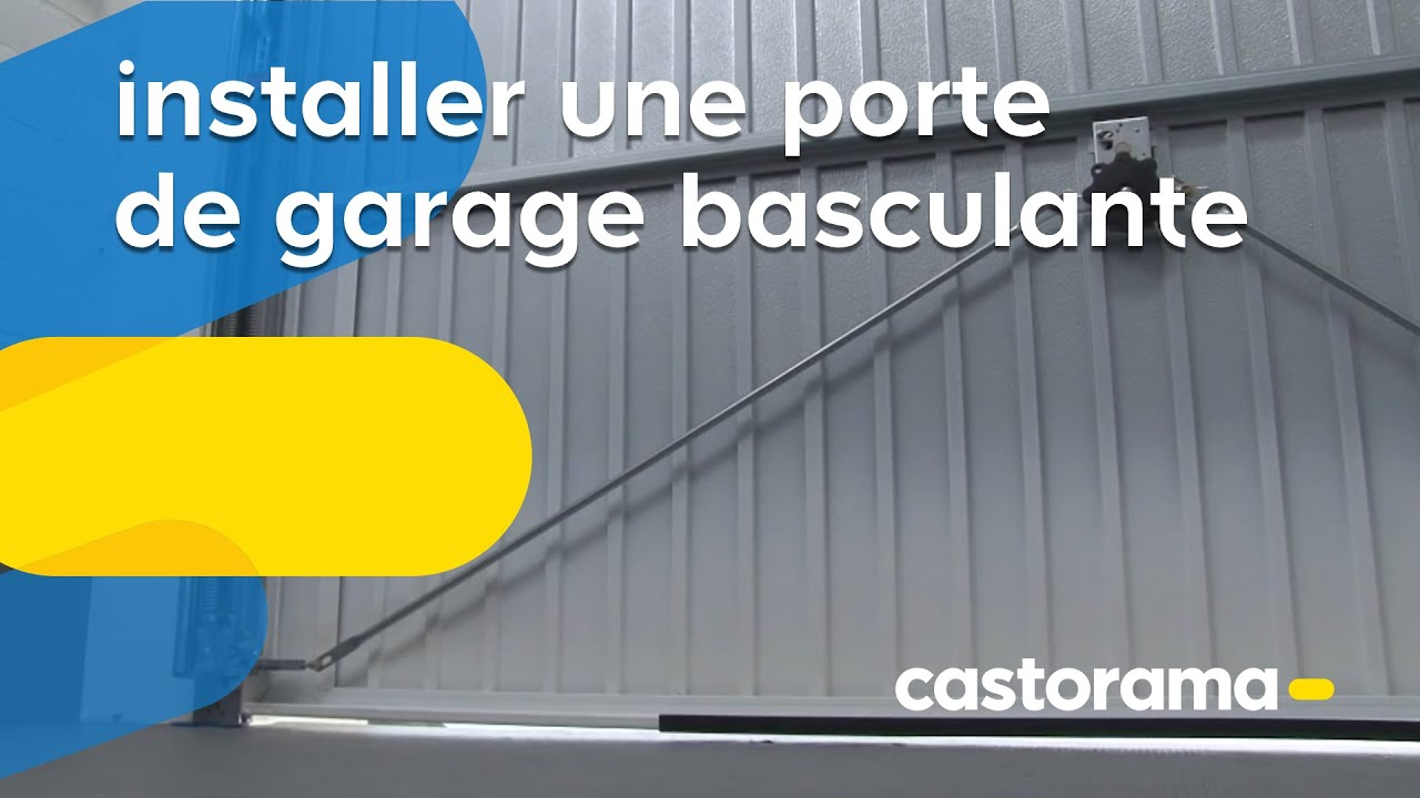 Installer une porte de garage basculante castorama youtube for Porte garage basculante castorama