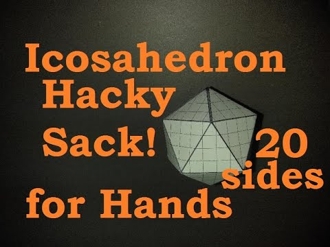 Origami Hacky Sack For Hands Icosahedron D20 Paper & Dollar Ornament Design © #DrPhu