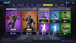 FORTNITE SHOP 28 JENNAIO - SHOGUN, MALCORE, MALE, REANIMATO AND MORE