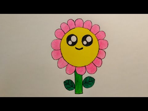 สอนวาดรูปดอกไม้น่ารักเก๋ไก๋|Drawing a cute Flower|Daily Art Therapy #060 |My Sky Channel.
