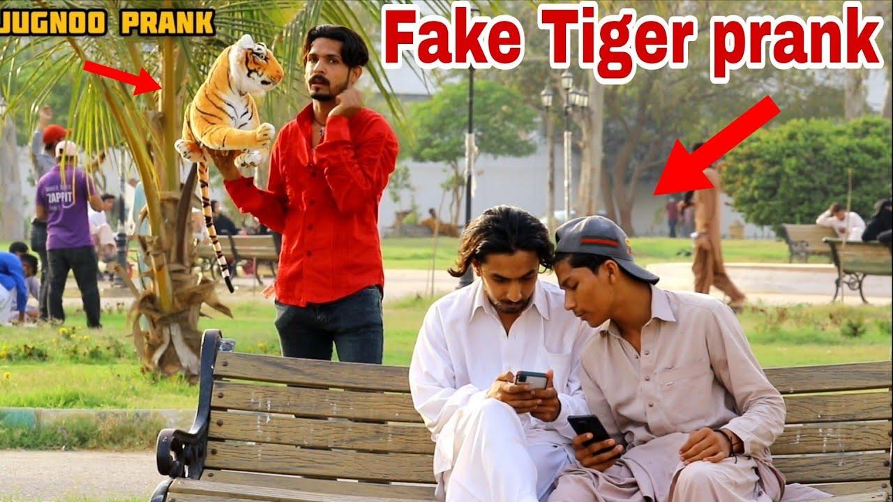 Fake Tiger Prank   Prank In Pakistan   Jugnoo Pranks