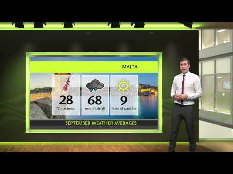 September holiday weather - Majorca, Malta, Tunis, Crete, Bodrum