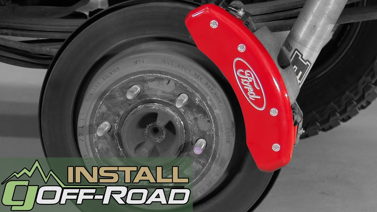 F 150 Mgp Brake Caliper Cover Set With Silver Ford Oval
