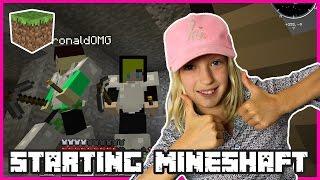 Starting a Mineshaft with ronaldOMG   Minecraft