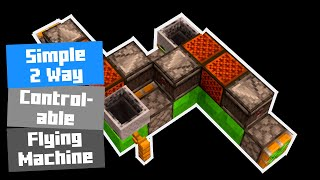 Download Simple 2 Way Controllable Flying Machine Minecraft