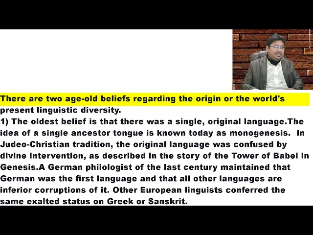 Origin of Language 8 in Urdu Hindi