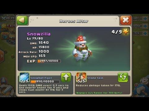 Castle Clash - Talent Rolls On Snowzilla And Thunder God