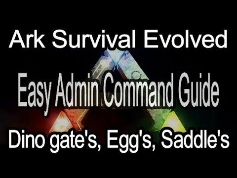 Ark Admin Guide, Dino Gates, Eggs, Saddles.