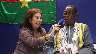 Valencia Stereo y el Ministro del medio Ambiente  la Encomia y el Cambio Climático de Burkina Faso.