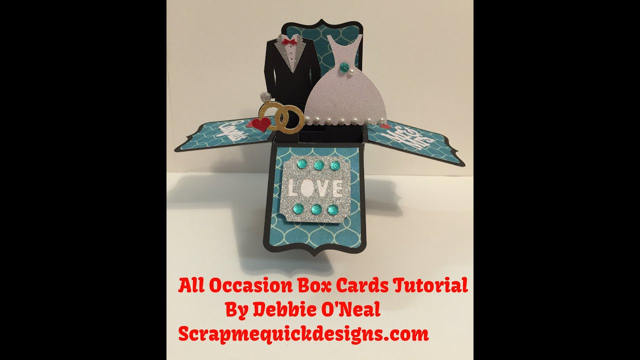Cricut All Occasion Box Cards Cartridge Tutorial YouTube