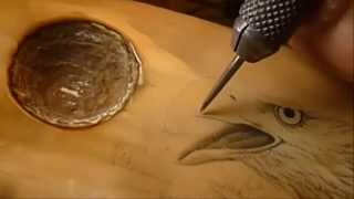 Scrimshaw Demonstration - Eagle Scene by Adams