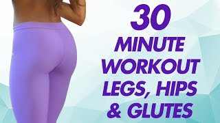 Shape Your Hips, Inner Thighs & Butt at Home, Cardio Workout w/ Stretches, Fitness