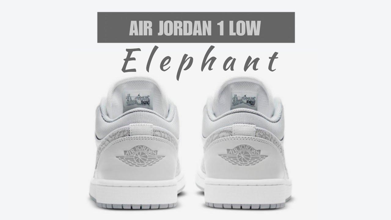 jordan 1 low elephant