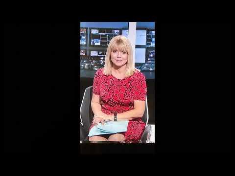 Christine Talbot sexy blonde milf tight dress