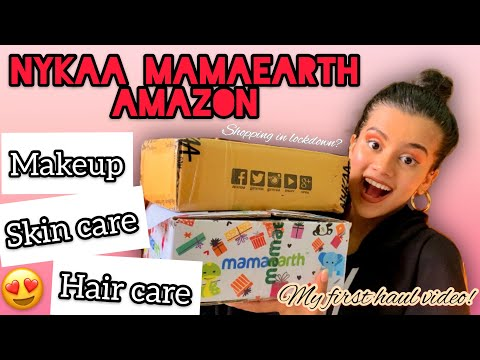 nykaa,-mamaearth,-amazon-lockdown-haul-|-makeup,-skin-care-and-hair-care-|-rutuja-creates-|
